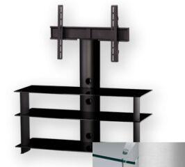 Sonorous PL2130CSLV - Meuble pour ecran Plasma/LCD en verre et aluminium