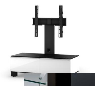 Sonorous MD8095CHBLKGRP - Meuble pour ecran Plasma/LCD en verre et bois