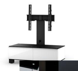 Sonorous MD8095BHBLKGRP - Meuble pour ecran Plasma/LCD en verre et bois