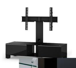 Sonorous MD8120CHBLKGRP - Meuble pour ecran Plasma/LCD en verre et bois