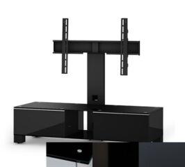 Sonorous MD8120BHBLKGRP - Meuble pour ecran Plasma/LCD en verre et bois