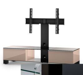 Sonorous MD8140CHBLKGRP - Meuble pour ecran Plasma/LCD en verre et bois