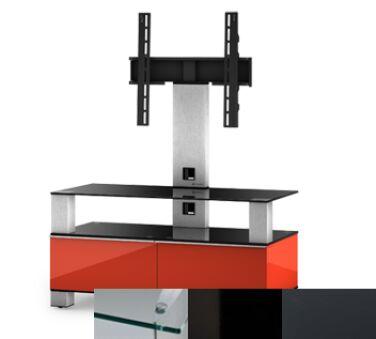 Sonorous MD8953CHBLKGRP - Meuble pour ecran Plasma/LCD en verre et bois