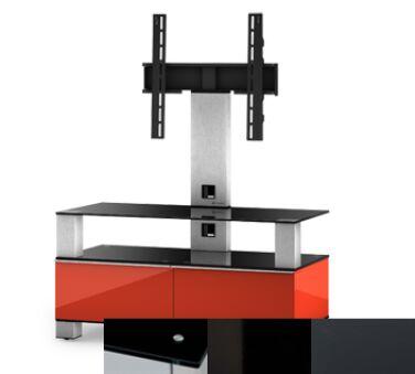 Sonorous MD8953BHBLKGRP - Meuble pour ecran Plasma/LCD en verre et bois