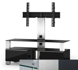 Sonorous MD8123CINXGRP - Meuble pour ecran Plasma/LCD en verre et bois
