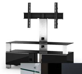 Sonorous MD8123CHBLKGRP - Meuble pour ecran Plasma/LCD en verre et bois