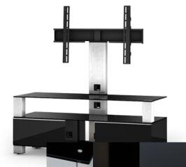 Sonorous MD8123BHBLKGRP - Meuble pour ecran Plasma/LCD en verre et bois
