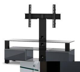 Sonorous MD8143CHBLKGRP - Meuble pour ecran Plasma/LCD en verre et bois