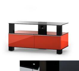Sonorous MD9095BHBLKGRP - Meuble pour ecran Plasma/LCD en verre et bois