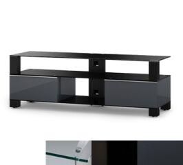 Sonorous MD9140CHBLKGRP - Meuble pour ecran Plasma/LCD en verre et bois