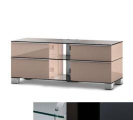 Sonorous MD9220CHBLKGRP - Meuble pour ecran Plasma/LCD en verre et bois