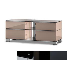 Sonorous MD9220BHBLKGRP - Meuble pour ecran Plasma/LCD en verre et bois