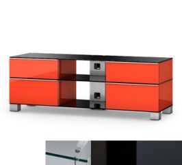 Sonorous MD9240CHBLKGRP - Meuble pour ecran Plasma/LCD en verre et bois