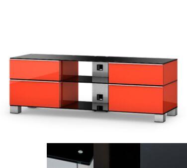 Sonorous MD9240BHBLKGRP - Meuble pour ecran Plasma/LCD en verre et bois