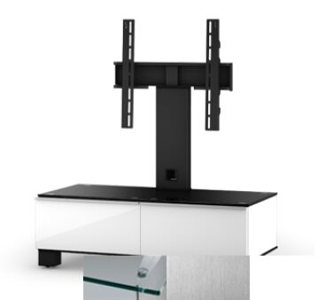 Sonorous MD8095CINXWHT - Meuble pour ecran Plasma/LCD en verre et bois