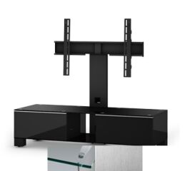 Meuble TV Sonorous Mood MD 8120 Inox et Blanc