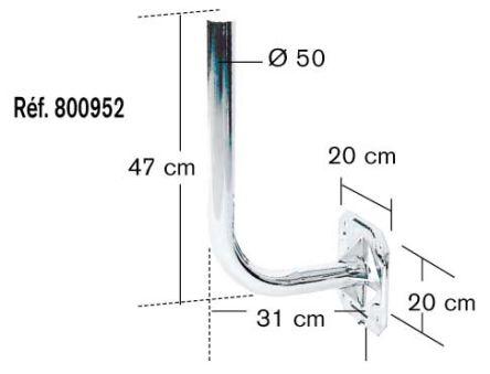 Erard 800952 - Bras de fixation zingue / Alu