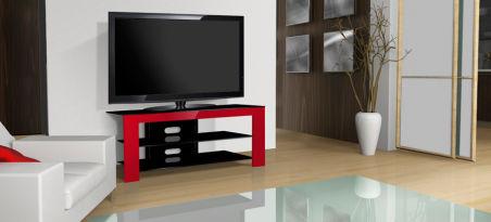 Meuble TV  design  NORSTONE - NELIO ROUGE
