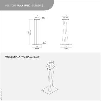 Pied enceinte design  NORSTONE - WALK STAND