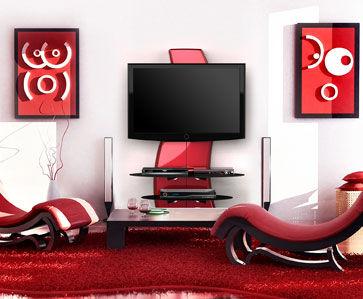 support mural tv meliconi ghost design 2000 noir carbone. Black Bedroom Furniture Sets. Home Design Ideas