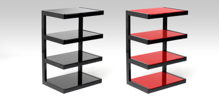 ESSE HIFI Finition structure/verre: Noir brillant / Rouge