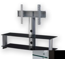 Sonorous PL2000CHBLK - Meuble pour ecran Plasma/LCD en verre et aluminium