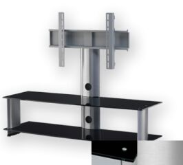 Sonorous PL2000BSLV - Meuble pour ecran Plasma/LCD en verre et aluminium