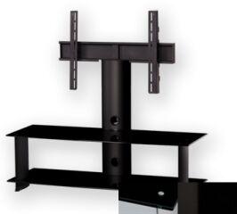Sonorous PL2100BHBLK - Meuble pour ecran Plasma/LCD en verre et aluminium