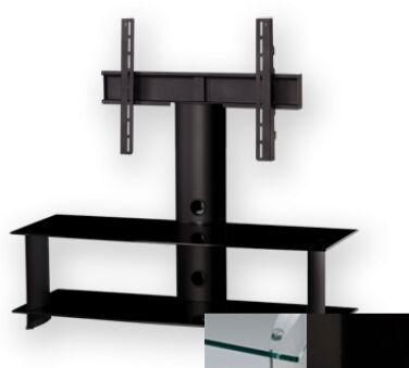 Sonorous PL2100CHBLK - Meuble pour ecran Plasma/LCD en verre et aluminium
