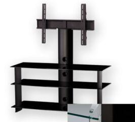 Sonorous PL2130CHBLK - Meuble pour ecran Plasma/LCD en verre et aluminium