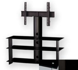 Sonorous PL2130BHBLK - Meuble pour ecran Plasma/LCD en verre et aluminium
