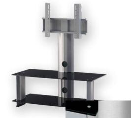Sonorous PL2195BSLV - Meuble pour ecran Plasma/LCD en verre et aluminium