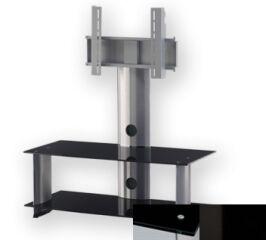 Sonorous PL2195BHBLK - Meuble pour ecran Plasma/LCD en verre et aluminium