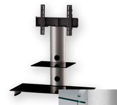 Sonorous PL2200CSLV - Meuble pour ecran Plasma/LCD en verre et aluminium