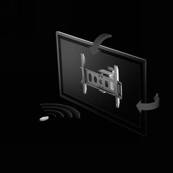 Fixation murale orientable motorisée pour écran plat