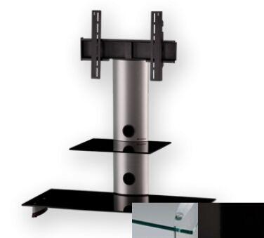 Sonorous PL2200CHBLK - Meuble pour ecran Plasma/LCD en verre et aluminium