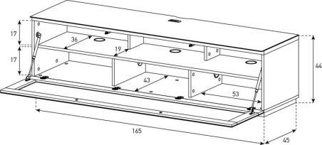 Meuble STUDIO pour écran plat - Spécial barre de son