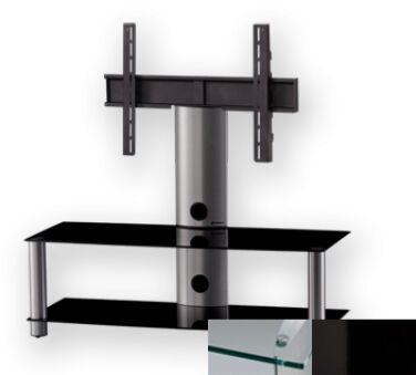 Sonorous PL2300CHBLK - Meuble pour ecran Plasma/LCD en verre et aluminium