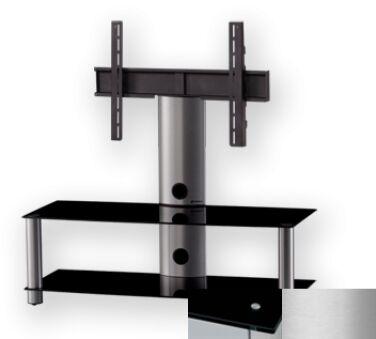 Sonorous PL2300BSLV - Meuble pour ecran Plasma/LCD en verre et aluminium