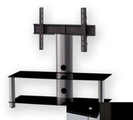 Sonorous PL2300BHBLK - Meuble pour ecran Plasma/LCD en verre et aluminium