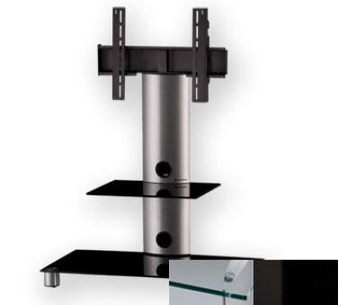 Sonorous PL2380CHBLK - Meuble pour ecran Plasma/LCD en verre et aluminium