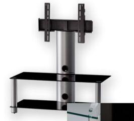 Sonorous PL2395CHBLK - Meuble pour ecran Plasma/LCD en verre et aluminium