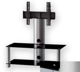 Sonorous PL2395BSLV - Meuble pour ecran Plasma/LCD en verre et aluminium
