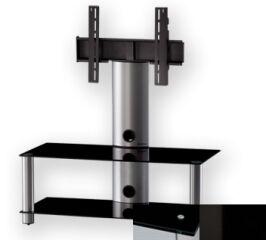 Sonorous PL2395BHBLK - Meuble pour ecran Plasma/LCD en verre et aluminium