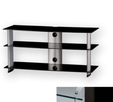 Sonorous PL3100CHBLK - Meuble pour ecran Plasma/LCD en verre et aluminium