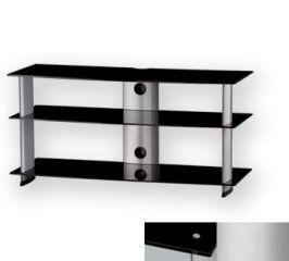 Sonorous PL3100BSLV - Meuble pour ecran Plasma/LCD en verre et aluminium