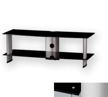Sonorous PL3110BSLV - Meuble pour ecran Plasma/LCD en verre et aluminium