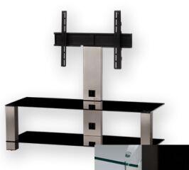 Sonorous PL2400CHBLK - Meuble pour ecran Plasma/LCD en verre et aluminium