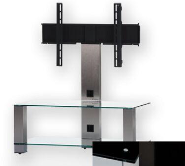 Sonorous PL2495BHBLK - Meuble pour ecran Plasma/LCD en verre et aluminium