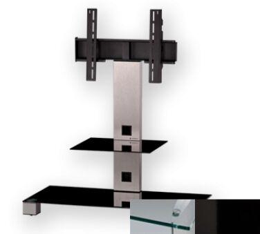 Sonorous PL2500CHBLK - Meuble pour ecran Plasma/LCD en verre et aluminium